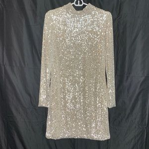 Silver/Cream sequined Dress!